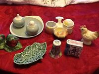 Collect able China pepper and salt pots