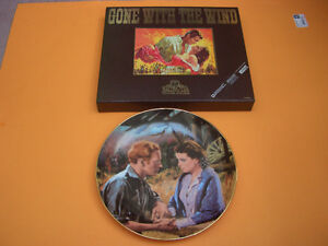 GONE WITH THE WIND COLLECTORS EDITION VHS AND COLLECTOR PLATE London Ontario image 1