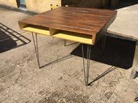 Industrial chic, reclaimed timber, handmade pallet style dining table, with storage