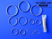 FOR TOYOTA SUPRA MK4 93-02 Brushed Alloy Air Vents /& Heater Rings Surrounds x4