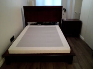 Queen Size Bed and Night Stand