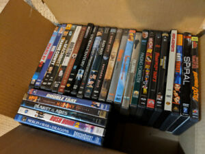 Box of DVDs- Many different genres- All for $25