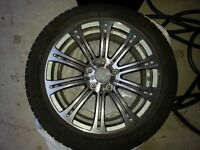 Hercules Four Winter Tires and BMW M5 replica wheels silver