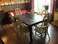 Hand-Crafted Farm Tables