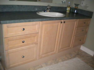 Bathroom Vanity with Counter Top, Faucet and Sink - Light Maple