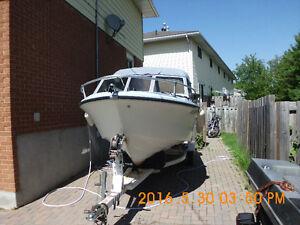 17' larson fibreglass boat