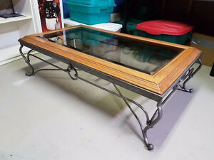 Iron & Wood Coffee Table