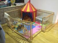 Large wooden playpen / room divider