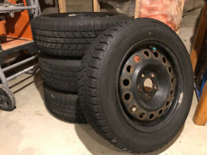 Bridgestone Blizzak 215/60R16 WS-70 95T Winter Tires on Rims