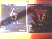 2 jeux playstation 3 Resident evil 6 et operation raccoon city