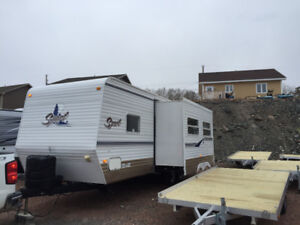 2009 dutchman sport 26ft travel trailer with double wide slide