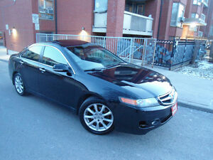 2006 ACURA TSX ,6-SPEED MANUAL ,LEATHER , SUNROOF ,ALLOY WHEELS!