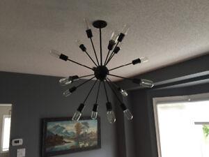 Sputnik 16-bulb Light (black)