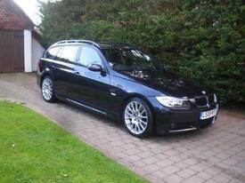BMW 3 SERIES 318D EDITION M SPORT TOURING, Black, Manual, Diesel, 2008