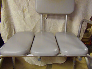 2 CLEAN PADDED Adjustable Assistive Devices: Bench & Commode