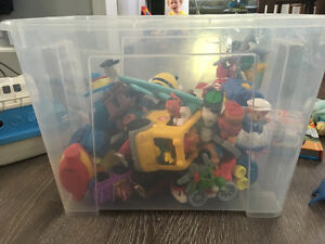 Assorted kids toys.