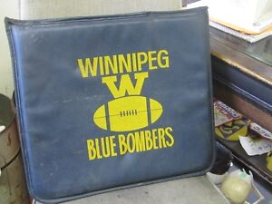 1960s WINNIPEG BLUE BOMBERS VINYL SEAT CUSHION $10.00