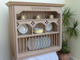 Plate rack and shelf wall unit