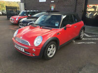 2005 Mini One 1.6 Petrol Convertible Manual Red Great Spec Half Leather