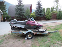 Polaris Sport 440 snowmoblile and trailer for sale