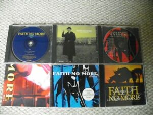 Faith No More - 5 CD singles / EPs lot - import poster live