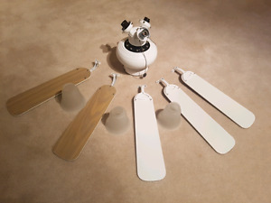 """42"""" White Ceiling Fans (2 for sale)"""