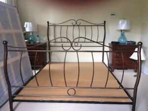 Beautiful iron queen bed frame