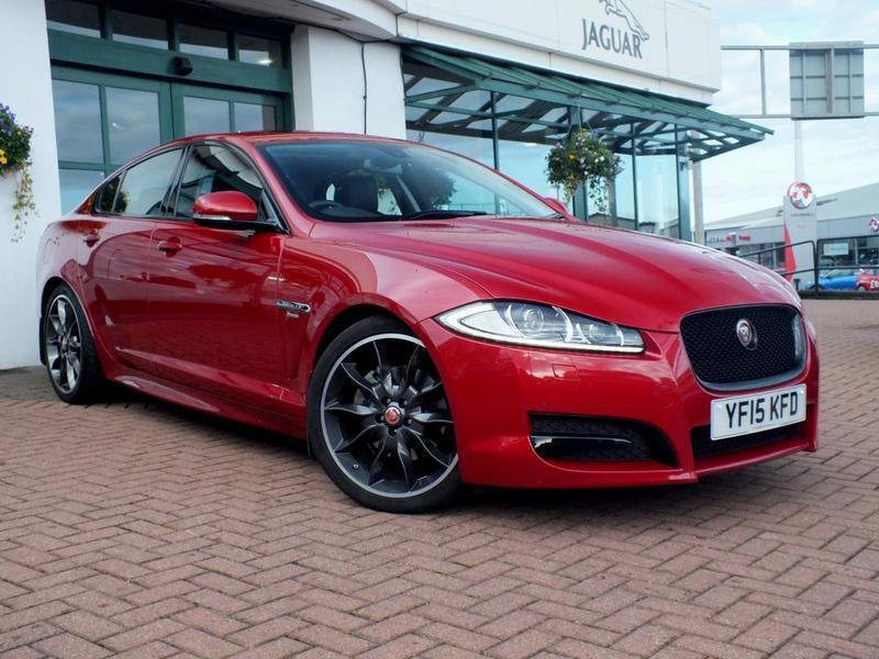 jaguar xf r sport black 4 door auto sunroof red. Black Bedroom Furniture Sets. Home Design Ideas