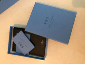 Brand new with tags designer Smythson leather passport cover