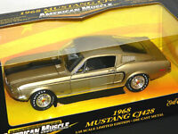 Ertl 1/18 Scale 1968 Ford Mustang CJ 428 Diecast Car Gold