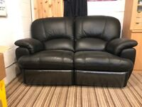 Leather 2 seater recliner sofa