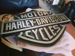 Metal Harley Davidson garage sign logo