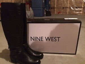 New never worn Nine West leather boots size 7.