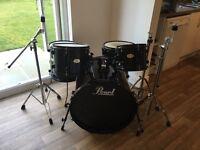 Pearl limited edition forum series midnight black drum kit