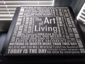 Frame with Inspirational Message