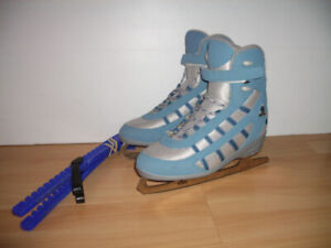 "new   "" SOFTEK "" patins chauds / warm skates --- size 10 US lady"