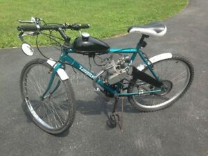Motorized Bicycle - Patina Triumph