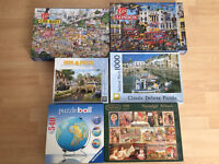Puzzles, all in good condition