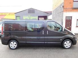 Vauxhall Vivaro LWB Sportive 6 seat factory fitted crew van 12 months MOT (1)