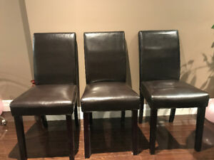 4 + 3 + 2 Faux Leather Chairs - Dining /office use - Brown color