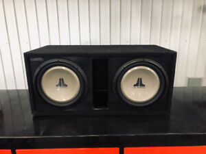 Two 12 inch sub woofers