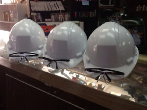 3 dynamic safety stromboli hard hats and goggles