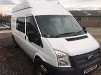 FORD TRANSIT 350 H-R, White, Manual, Diesel, 2012 bi purpose crew van