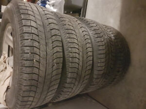 Sets of 4 michelin xice on dodge rims