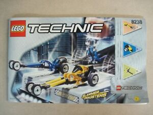 Lego set 8238 Technic, Dueling Dragsters, 100% complet avec plan