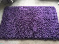 Purple thick shaggy rug