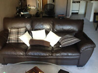 Beautiful Leather Couch - Like New