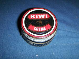 VINTAGE JAR OF KIWI SHOE CREME-1950/60'S-MIRACLE MART-UNIQUE!