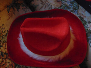 Red and white cowboy hat