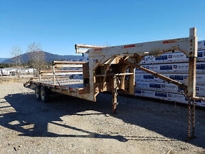 30' roller trailer with 2 newer 7000 pound axels.
